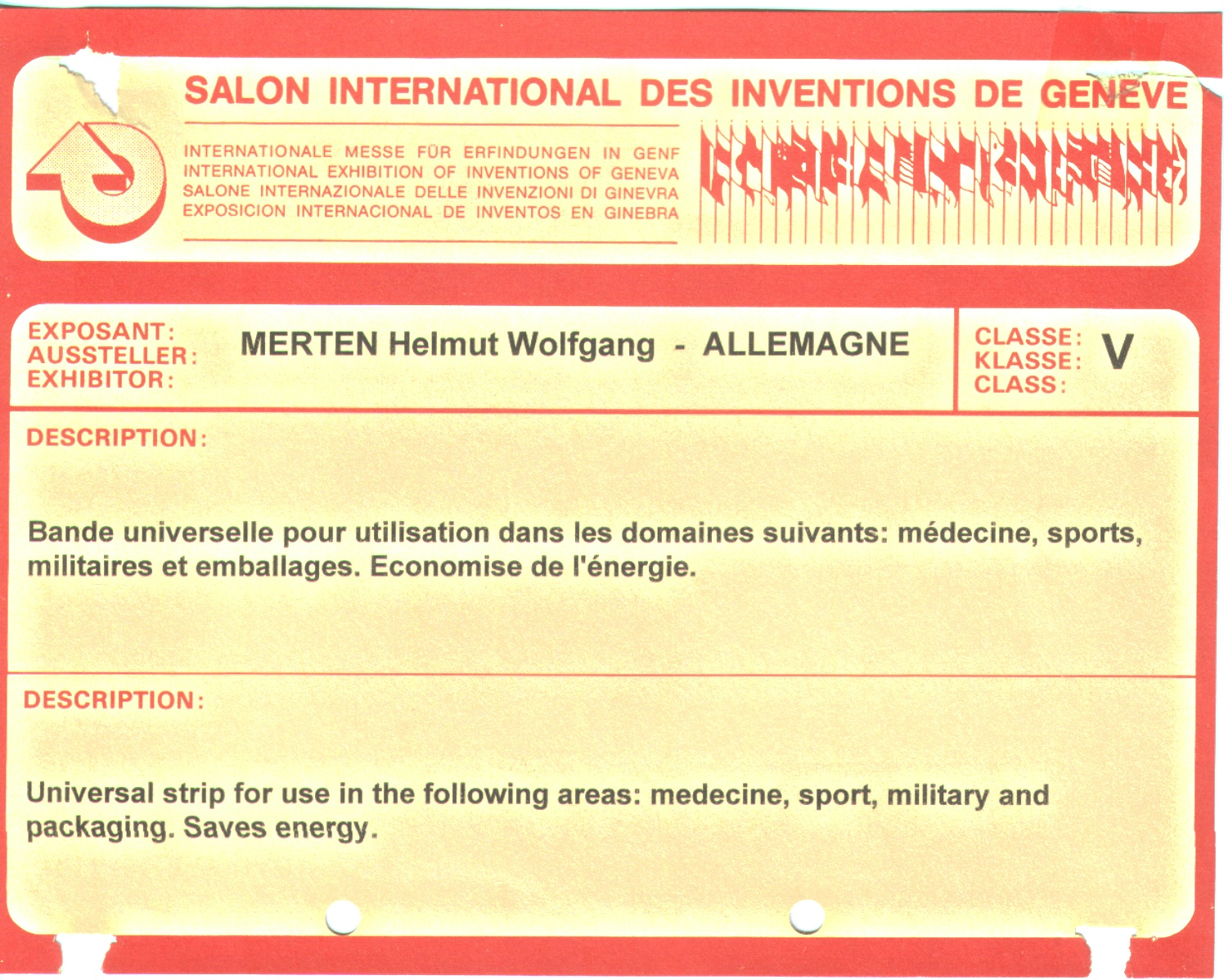 Mersystem universalband - Salon des inventions ...